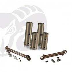 Velox V8 Aluminum Axle Set