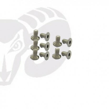 "Flat Head Screws M3x8 ""Titanium"""