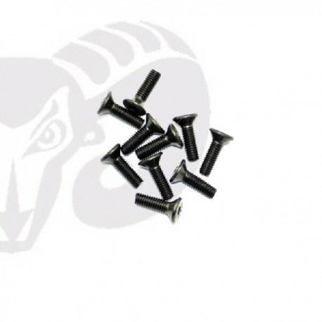 Flat Head Screws M3x12